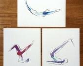 SALE Any 3 prints - Yoga or Pilates Art