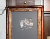 Bamboo-Look Magnetic Framed Chalkboard  Wedding/Home/Restaurant (16 1/4 x 32 1/4 inches)