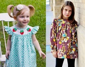 Bishop Style BeBop Tops and Dresses for Baby, toddler, girl, and tween - PDF sewing pattern by the Scientific Seamstress