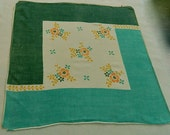 "Vintage Hankie/Hanky ""Throughly Modern Hanky"",  Printed Hankie"