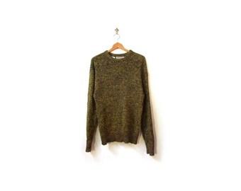 BTS SALE Vintage 80s Unisex Oversized DIJON Mustard Grunge Knit Sweater women S-L men s-m minimalist vestiesteam preppy retro cosby kids ski