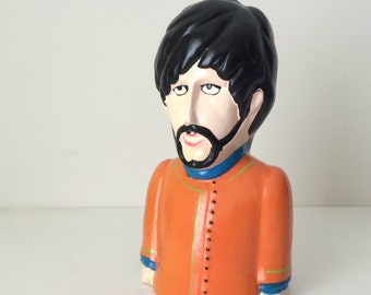 1968 Beatles George Harrison Coin Bank - Yellow Submarine - Pride Creations - Rare 60's Beatles Collectible