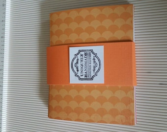 Cute Red and Orange shaded notecards set of 8