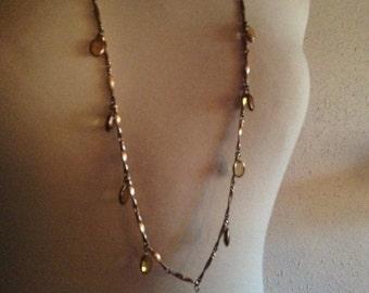 Bezel Necklace with Oval Shaped Bezels
