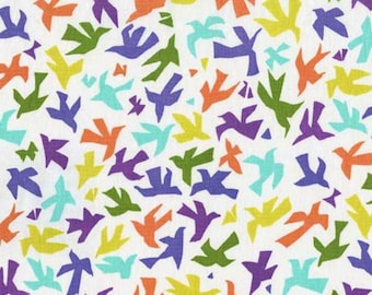 SALE - Michael Miller - Melodies Collection - Origami Birds in Jewel