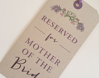 reserved chair tag, reserved signs for chairs, reserved chair sign, reserved seating wedding,  wedding reserved seating sign