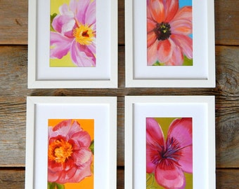 NEW fabulous flower prints-set of 4, pick your favorites, 5x7 posh prints-16 different designs to choose from