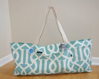 Xlarge Yoga Bag with Quilted Lining.Made to Order!