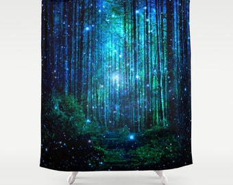 forest showercurtain/tolkien's woods /trees showercurtain/forest bath decor/narnia shower curtain/forest bathroom decor/green shower curtain