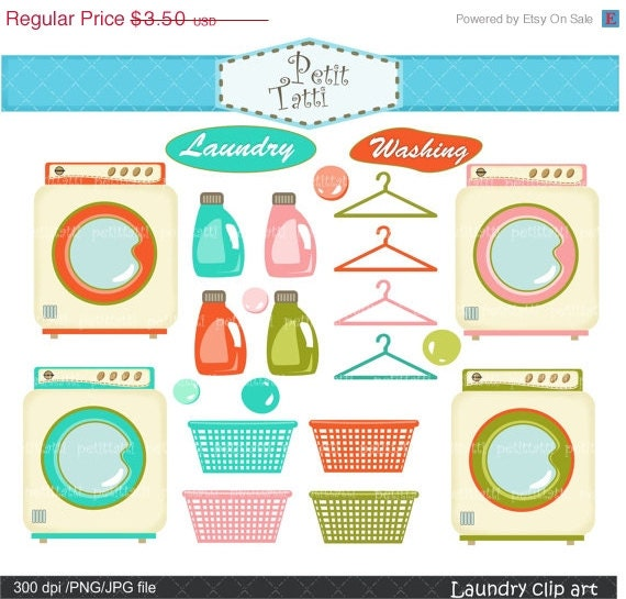 cute washing machine clipart. on sale laundry clip art \u003e household clipart, washing machine art, retro cute clipart h