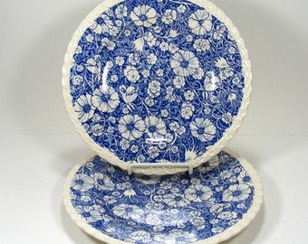 Blossom Time Dinner Plates by Vernon Kilns set of two
