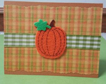 Country Pumpkin Fall Greeting Card
