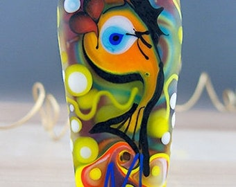 Glass Art - Original Statement Lampwork Focal Bead by Michou P. Anderson