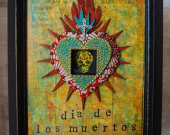 Mixed Media Wall Art - Day of the Dead Celebration