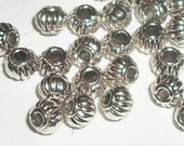5mm Antique silver pewter lantern spacer beads -- 100 pieces  (45094AS)