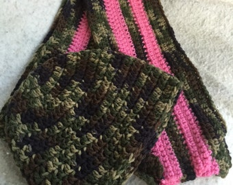 Hand Crochet Hat and Scarf Set