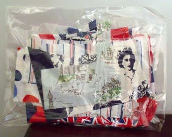 British Themed Fabric Scrap Bag 100g nearly 4oz in weight