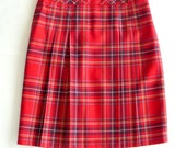 Skirt - Wool - Plaid - Tartan - BROOKS BROTHERS - 4 Pleats - Preppy - Classic - Celtic - Timeless - Retro - Recycled - Back to School