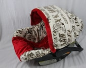 Cowboy Red Infant Car Seat Cover, Baby Seat Cover,  Baby Seat Cover, Ritzy Baby Infant Seat Covers, Canopy Covers, Baby Covers