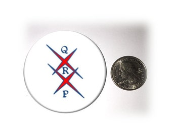 QRP  Fridge Magnet  Locker Magnet  2 1/4 inches in diameter (135)