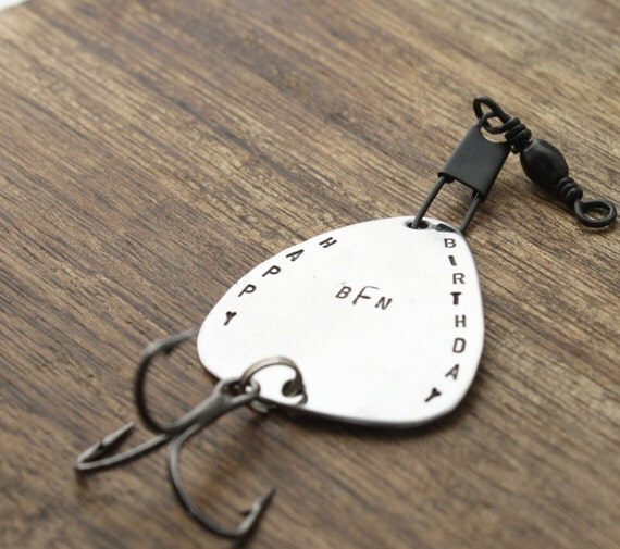 Birthday gift fishing lure personalized by sierrametaldesign for Engraved fishing lures