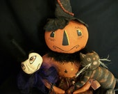 PATTERN, Primitive dolls, Mr. Pumpkin man and his buddies,  by Dumplinragamuffin,HAFAIR,OFG