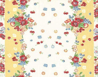 "Moda Retro Kitchen Toweling, 16"" wide, GRANNY'S GARDEN; sold by the yard"