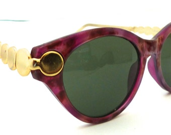 Cool 80s 90s off Round lens Sunglasses //