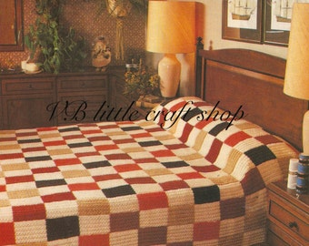 Bed spread knitting pattern. Instant PDF download!