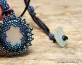 RESERVED: Mermaid Tears -  Organic Genuine Amalfi clear  Sea Glass - midnight blue