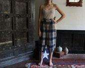 vintage plaid Pendleton wool capri pants