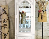Painted Cottage Chic Shabby Romantic French Armoire AM179
