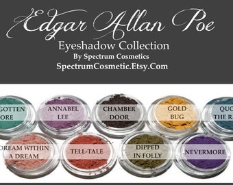 Edgar Allan Poe Fall Halloween Eyeshadow Collection