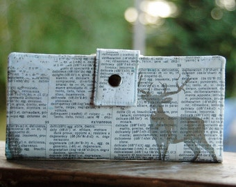 Clutch wallet handmade in a deer fabric