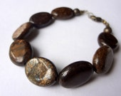 polished bronze pebbles … bronzite earthy brown natural gemstone bracelet