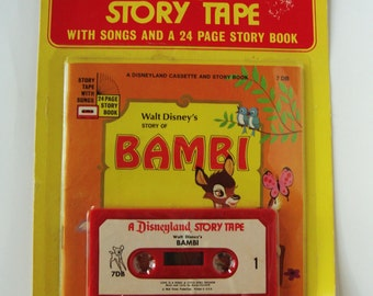 Disneyland cassette Bambi Story Book & Tape 1965 original package
