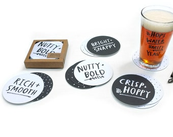 Beer Notes Coasters - set of 12