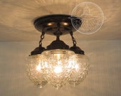 Island Falls. Ceiling Lighting Fixture Trio