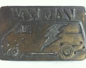 Van Man Brass Belt Buckle // 1970s Sleaze Creepy Belt // Large Rare Design Buckle // Stoner // A Team // Scooby Doo