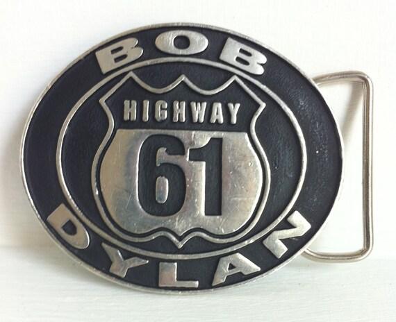 bob dylan highway 61 belt buckle