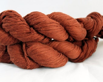 30% off STORE CLOSING SALE Upcycled Nut Brown Cotton Yarn, Bulky Yarn - 148 Yards