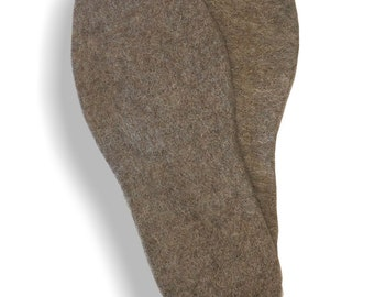 Alpaca & Wool Felted Inserts and Soles - Warm, Wicking, Breathable, Durable - Men, Women, Kids