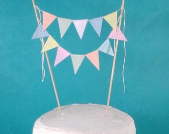 Weddimg Cake bunting, pastel, Candy, cake Banner H093 - shabby chic cake bunting