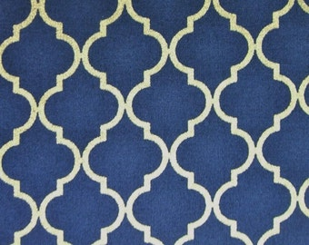Chandelier Quattro Navy Metallic Studio M Moda Cotton Fabric Yard