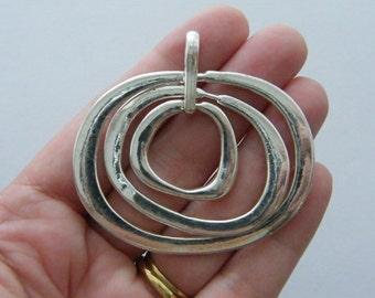 BULK 3 Pendants antique silver tone M539