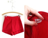50s Shorts / Red 1950s Shorts