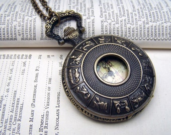 Locket Watch Necklace Vintage Inspired Neo Victorian