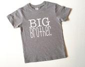 heather grey big brother t-shirt | big bro shirt | brother shirt | family photos | new brother | big brother gift | pregnancy announcement