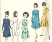 Vogue Basic Design 1545 / Vintage 60s Sewing Pattern / Dress / Size 14 Bust 34