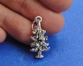 Pine Tree Charm - Sterling Silver Pine Tree Charm for Necklace or Bracelet